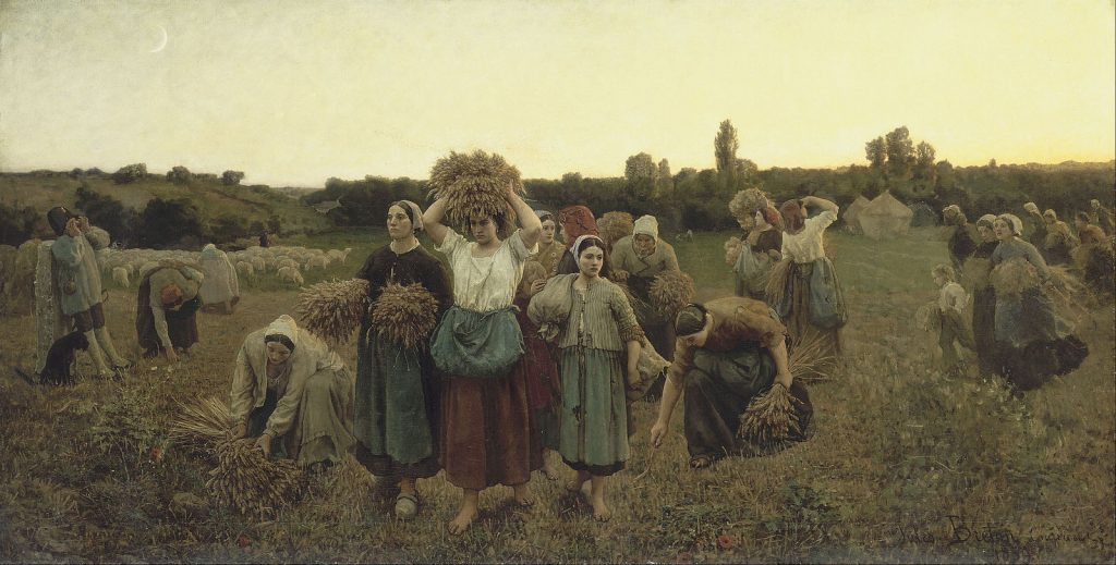 Jules Breton   Calling in the Gleaners   Google Art Project
